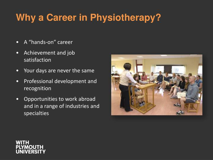 Why a Career in Physiotherapy?