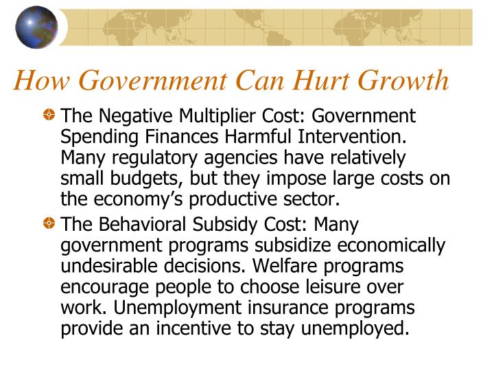 How Government Can Hurt Growth