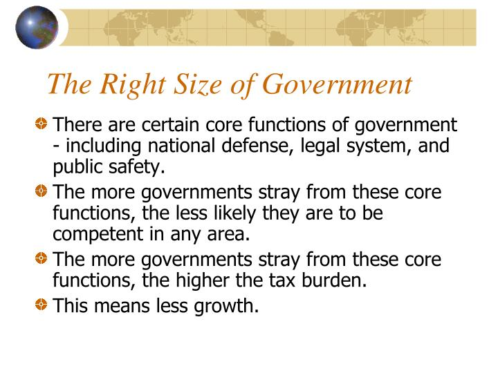 The Right Size of Government