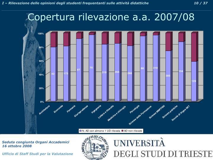 I – Rilevazione delle opinioni degli studenti frequentanti sulle attività didattiche