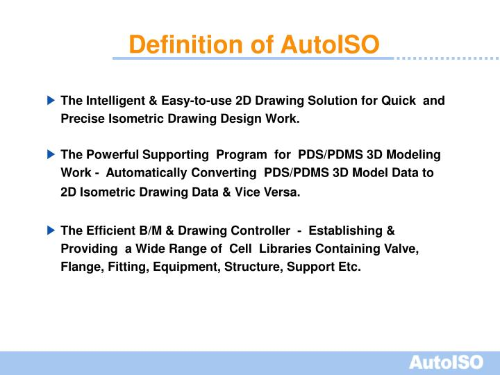 Definition of autoiso1