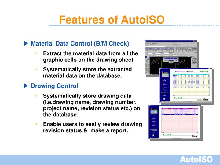 Features of AutoISO