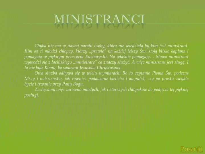 ministranci