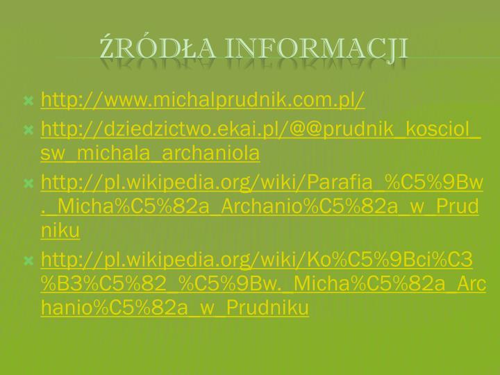 http://www.michalprudnik.com.pl/