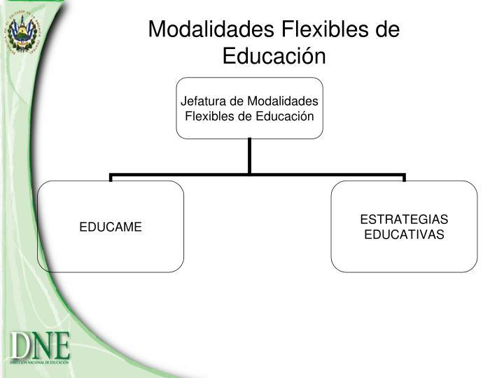 Modalidades Flexibles de Educación