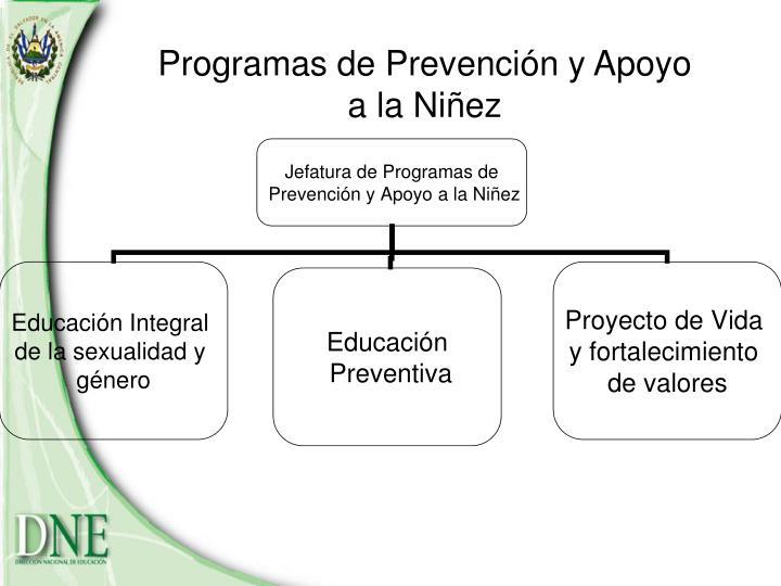 Programas de Prevención y Apoyo a la Niñez