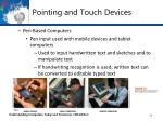 pointing and touch devices4