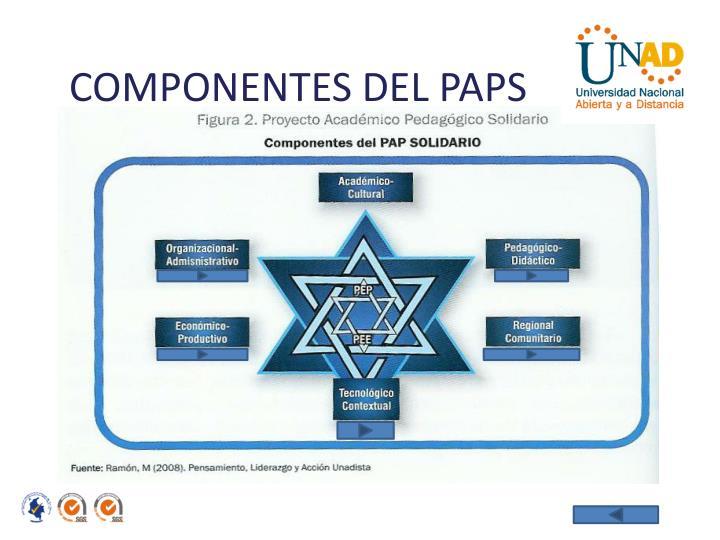 COMPONENTES DEL PAPS