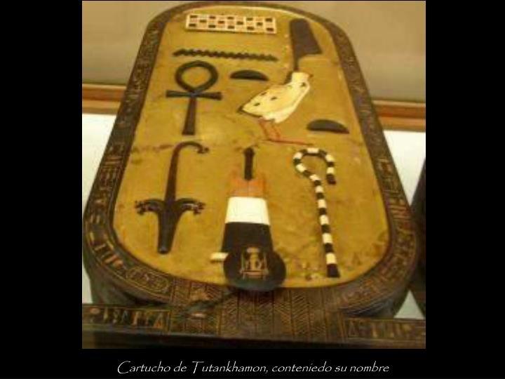 Cartucho de Tutankhamon, conteniedo su nombre