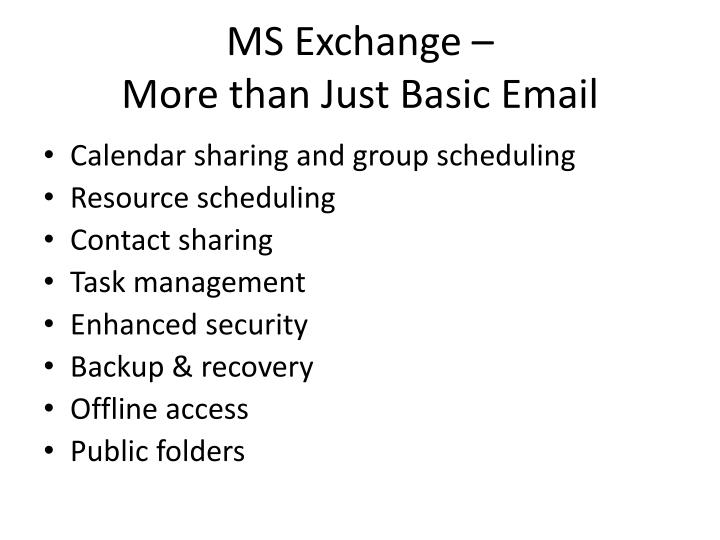 MS Exchange –
