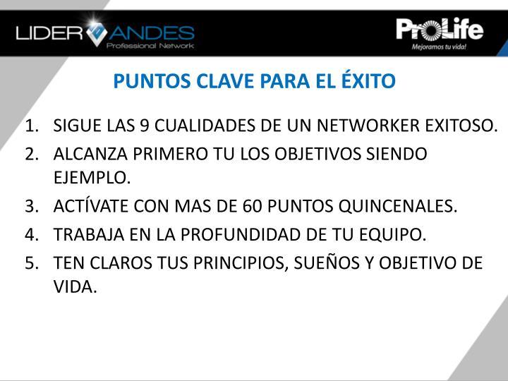 PUNTOS CLAVE PARA EL ÉXITO