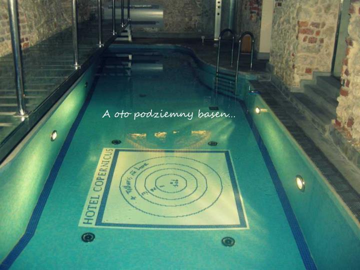 A oto podziemny basen