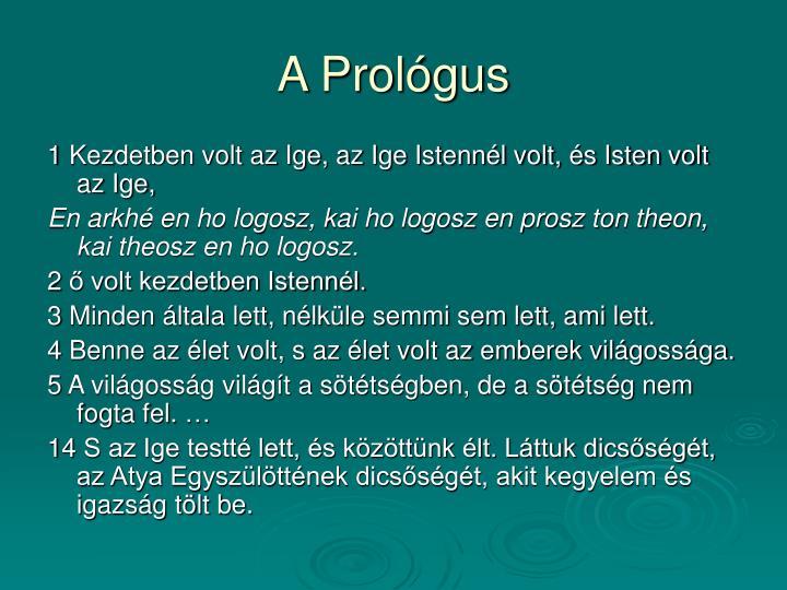 A Prológus