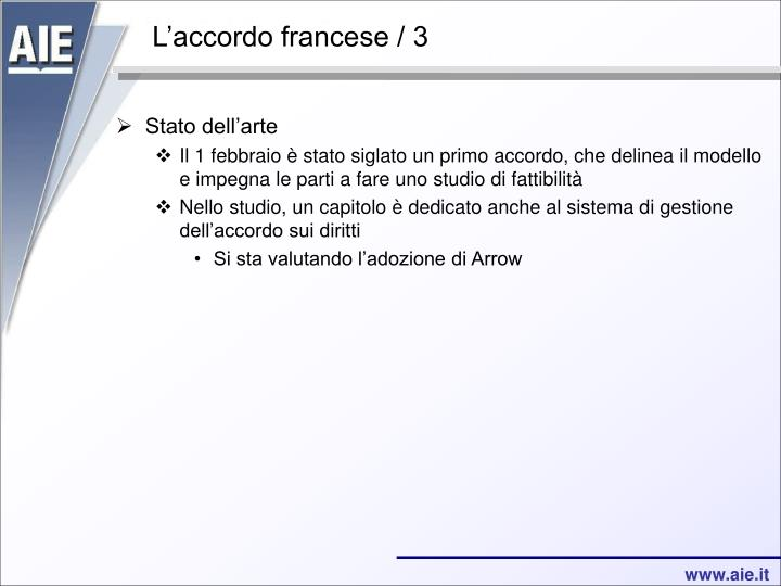 L'accordo francese / 3