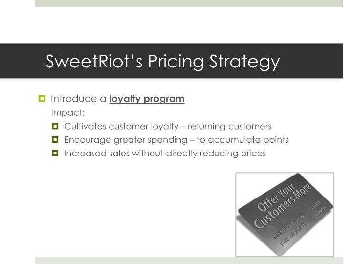 SweetRiot's Pricing Strategy