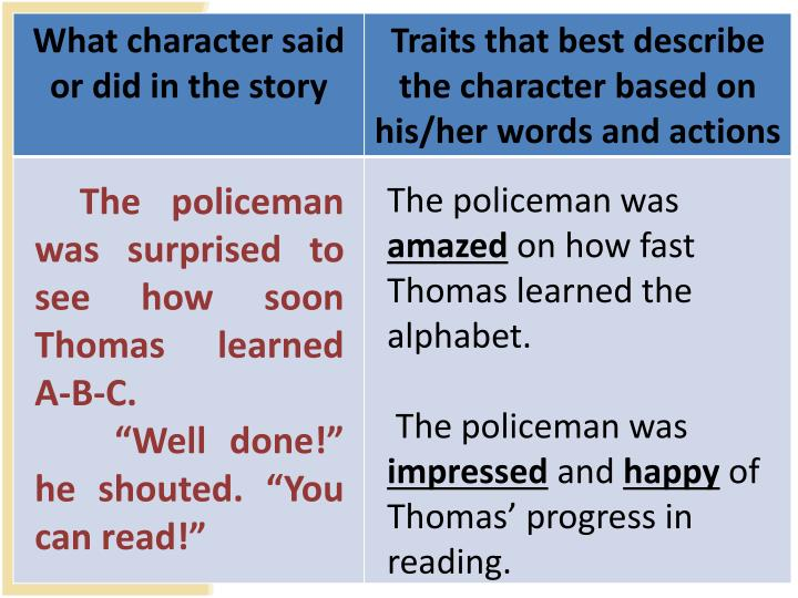 The policeman was surprised to see how soon Thomas learned A-B-C.