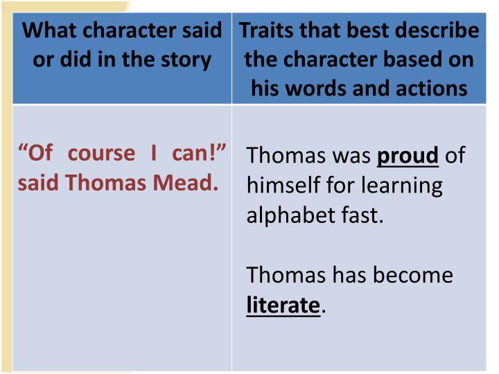 Thomas was