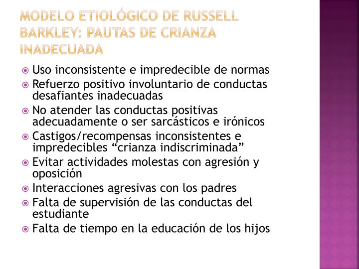 Modelo etiológico de Russell