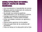 modelo etiol gico de russell barkley pautas de crianza inadecuada