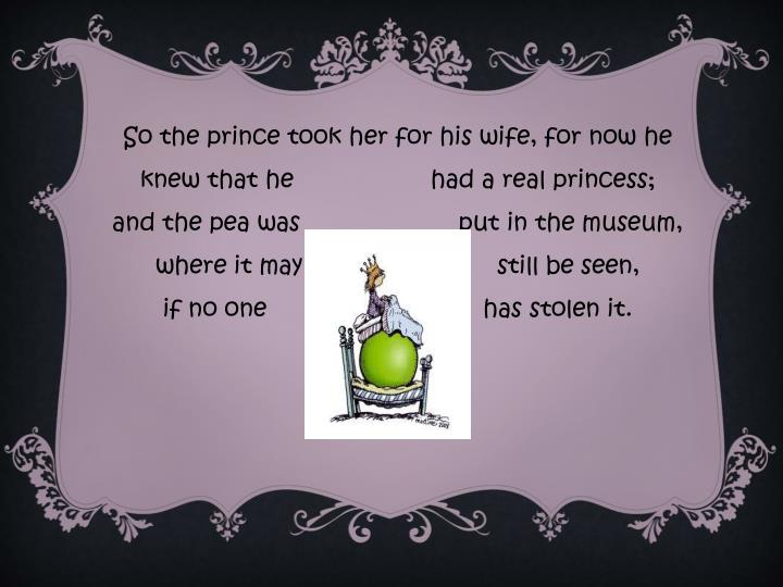 So the prince