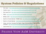 system policies regulations