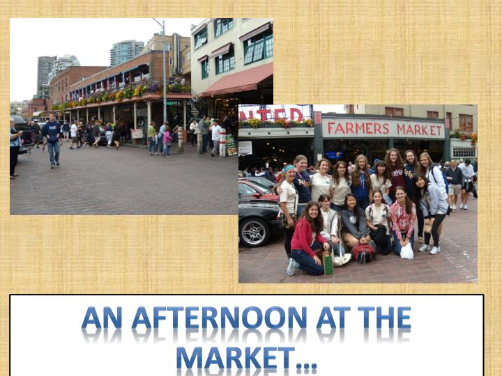An afternoon at the market…