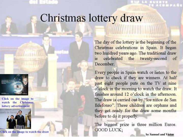 Click on the image to watch the Christmas lottery advertisement