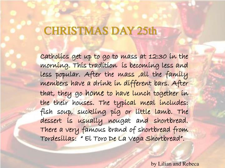 CHRISTMAS DAY 25th