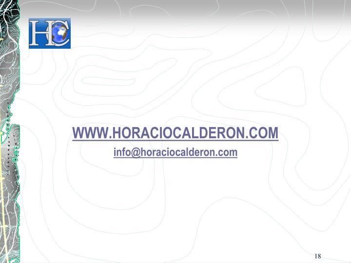WWW.HORACIOCALDERON.COM