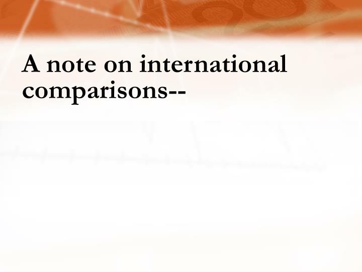 A note on international comparisons--