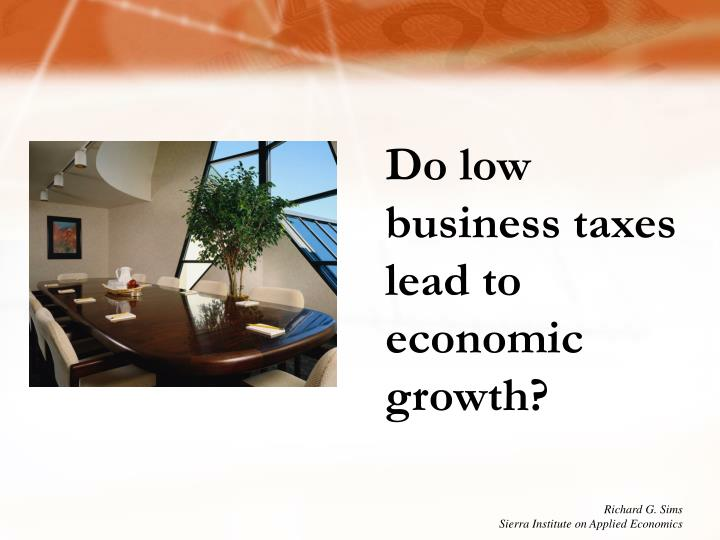 Do low business taxes lead to economic growth?