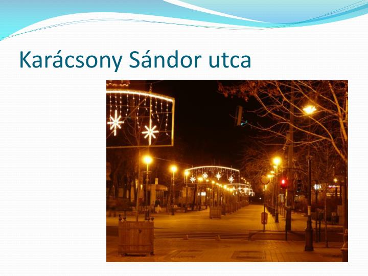 Karácsony Sándor utca