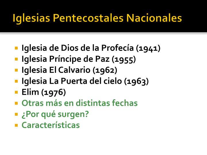 Iglesias Pentecostales Nacionales