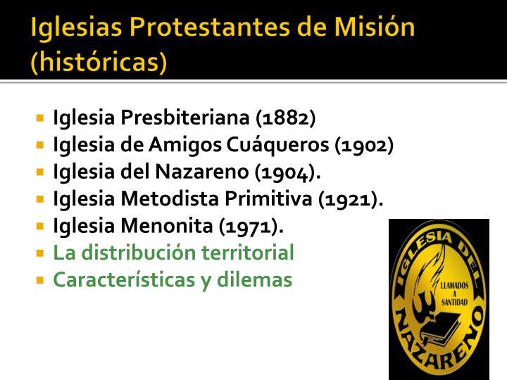 Iglesias Protestantes de Misión