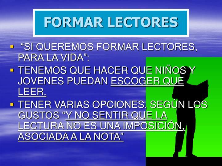 FORMAR LECTORES