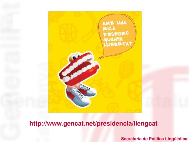 http://www.gencat.net/presidencia/llengcat