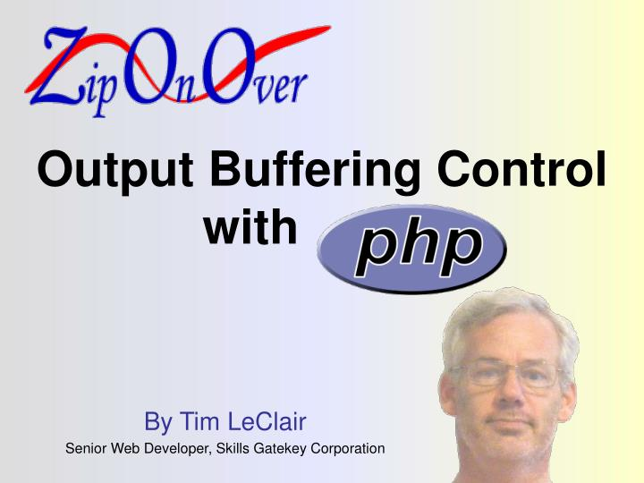 Output buffering control with php