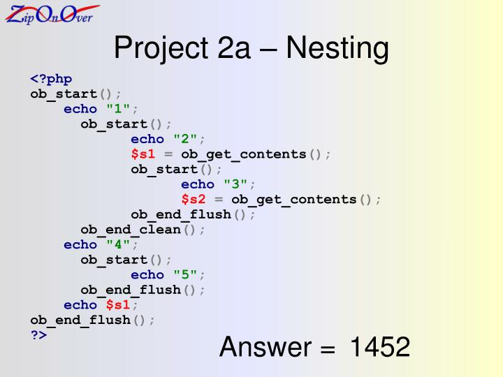 Project 2a – Nesting