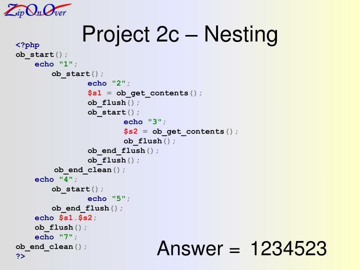 Project 2c – Nesting