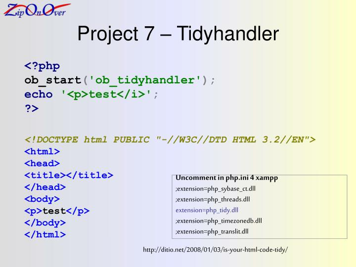 Project 7 – Tidyhandler