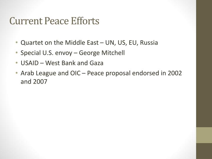 Current Peace Efforts