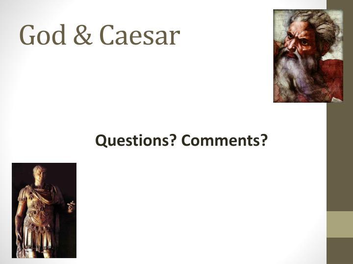 God & Caesar