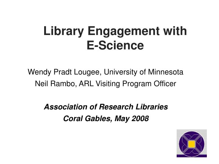 Library Engagement with