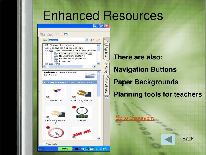 Enhanced Resources
