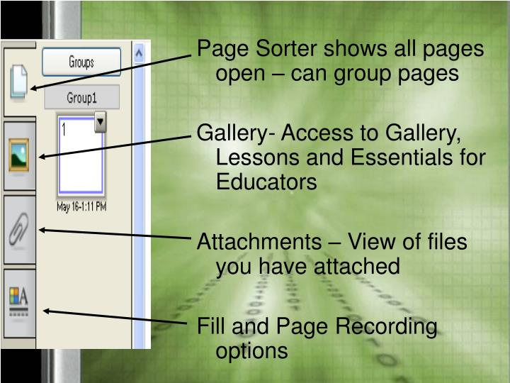 Page Sorter shows all pages open – can group pages