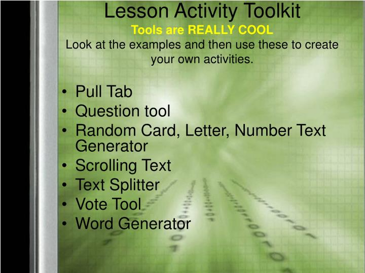 Lesson Activity Toolkit