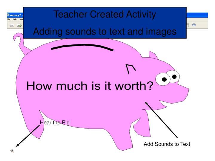 Teacher Created Activity