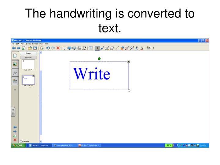 The handwriting is converted to text.