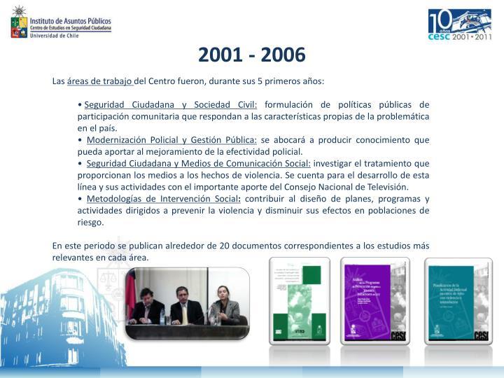 2001 - 2006
