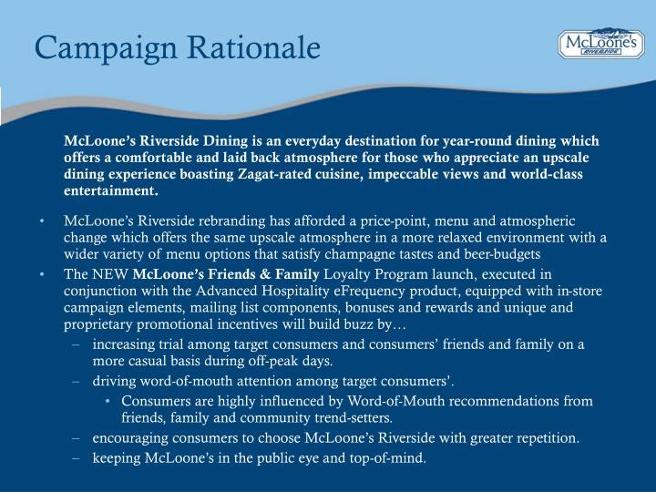Campaign Rationale